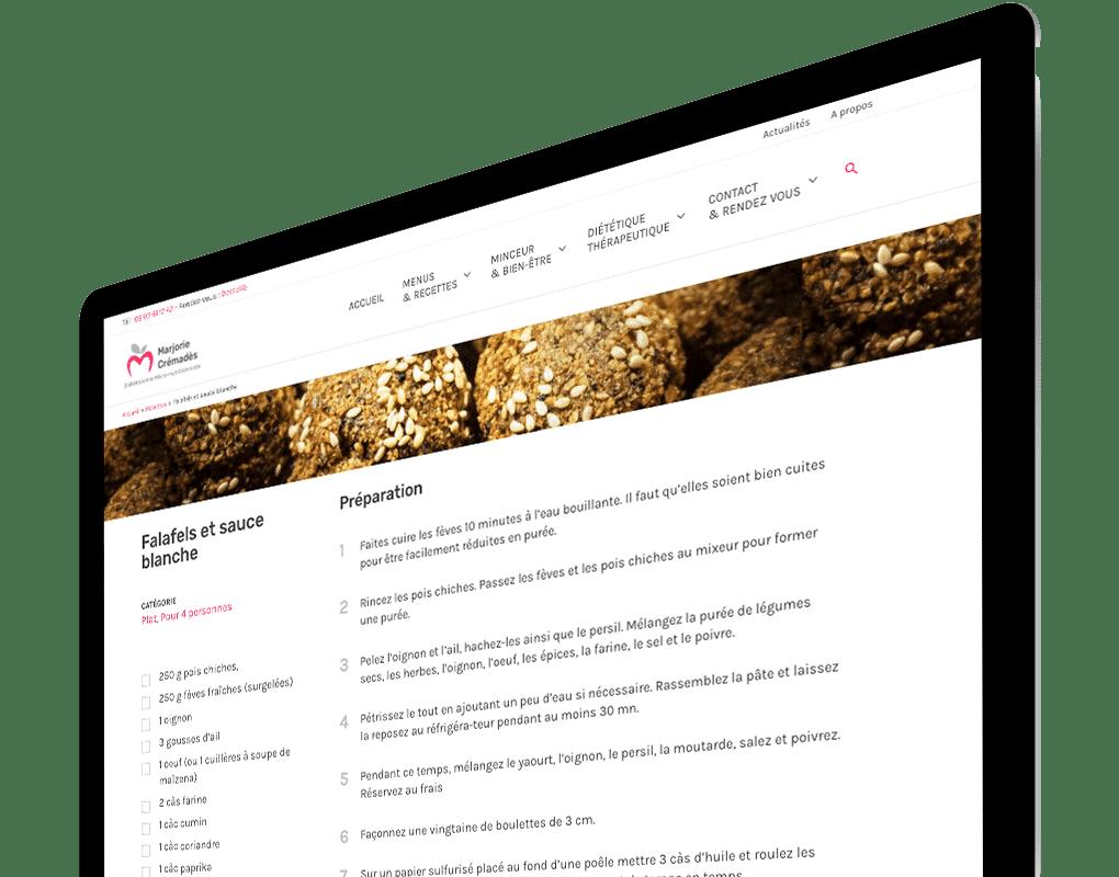 Site recette diététique détaillée
